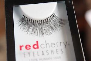 Red-Cherry-TRACE-217-falsche-kuenstliche-schwarze-Echthaar-Wimpern-strip-lash
