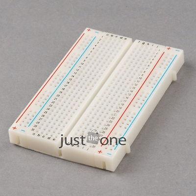 Neu Hot 1 Stück Steckboard Experimentierboard Breadboard Steckbrett 400 Kontakte