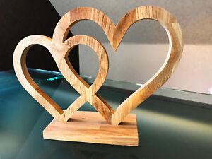 freistehendes herz aus holz eiche deko cnc cut valentinstag hulzbredl ebay. Black Bedroom Furniture Sets. Home Design Ideas
