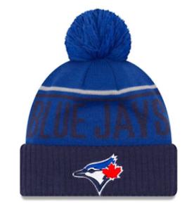 5c2b9ca2e Details about Toronto Blue Jays Kids Junior Jumbo Cheer Cuffed Pom  Toque/Beanie New Era Child
