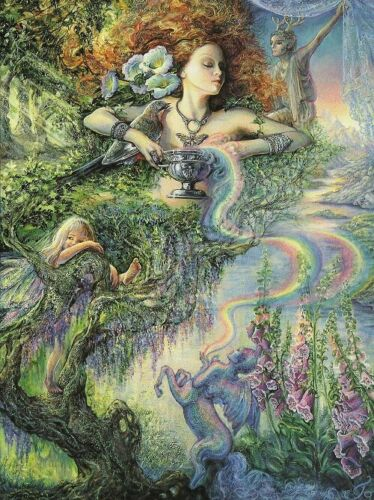 """/""""Enchantment/"""" Greeting Card  by Josephine Wall  Tree Friendly"""