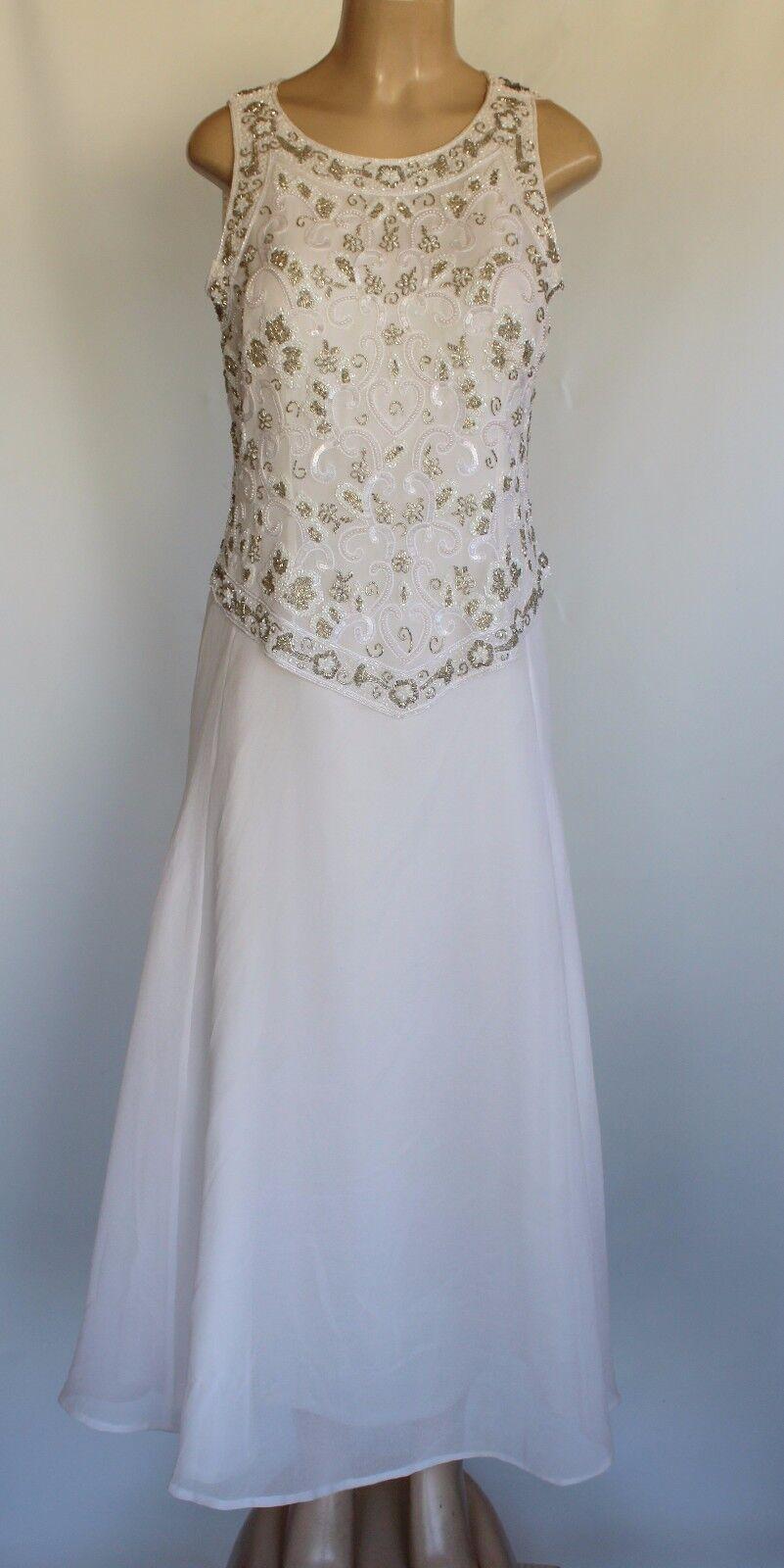 JK ARA New York Women's Dress White Size 10