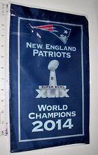 "Gillette Stadium 2014 New England Patriots 14"" Mini Banner Super Bowl XLIV"