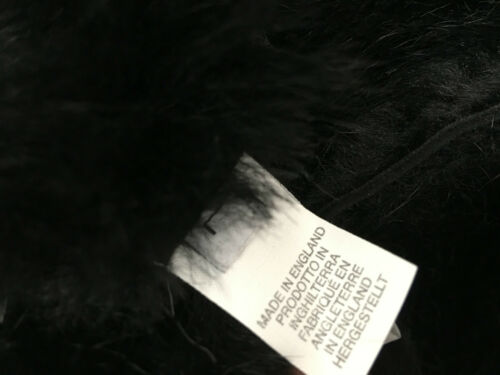 Paul Smith Trapper Hat 100/% Pelle di Pecora Taglia L Mainline BLACK TIE UP Orecchio Flap