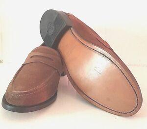 Leather Samuel Windsor Slip Loafer Suede on Brown Penny Handmade Shoes Men's 0POknw