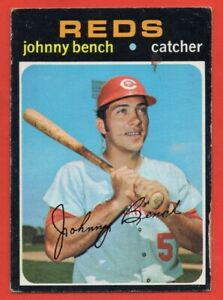 1971 Topps #250 Johnny Bench VG-VGEX TAPE HOF Cincinnati Reds FREE SHIPPING