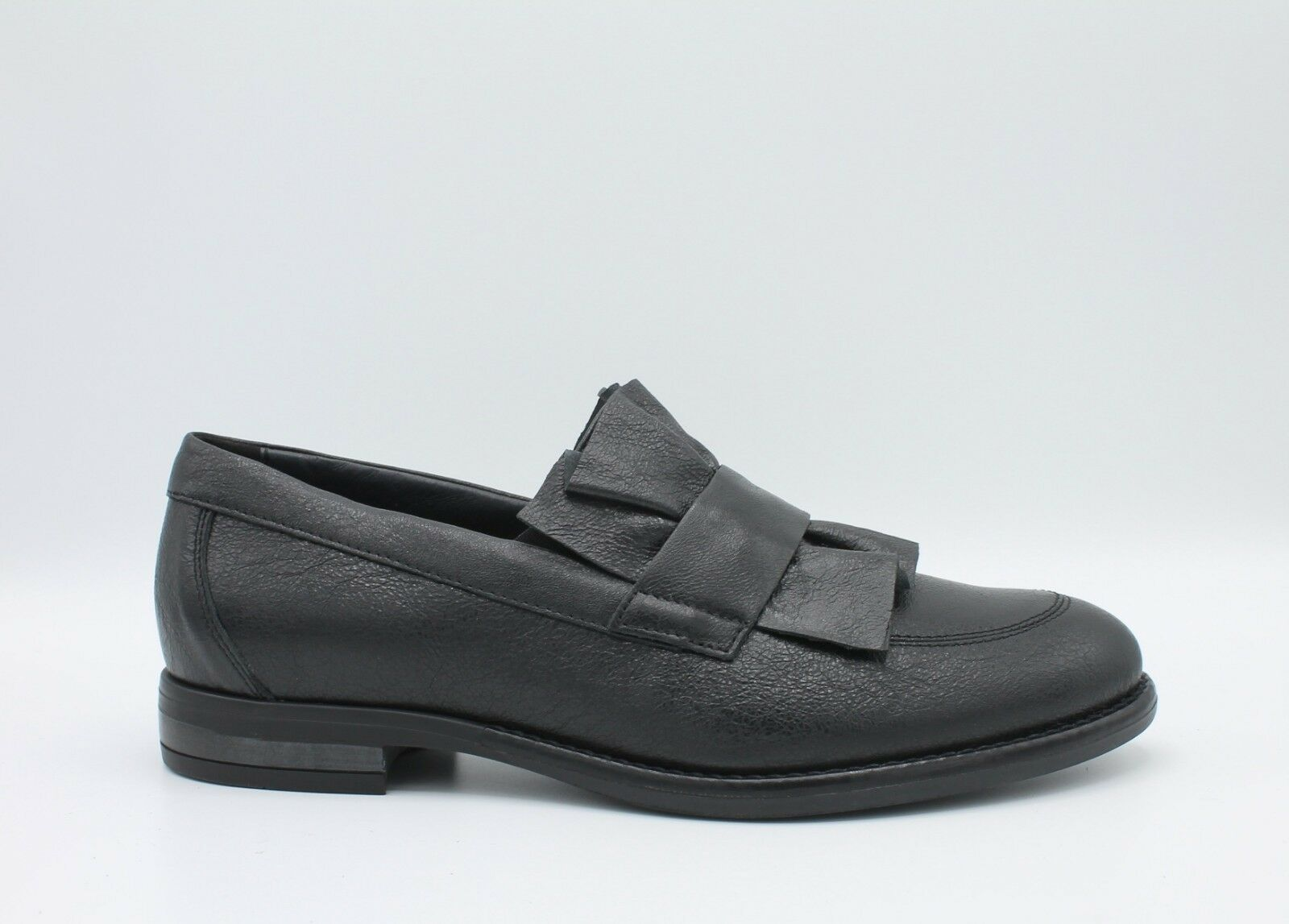 IGI & Co. WOMEN'S SHOES LOAFERS FOOTWEAR LEATHER LEATHER LEATHER BLACK FRILLY 2183100 df5aa4
