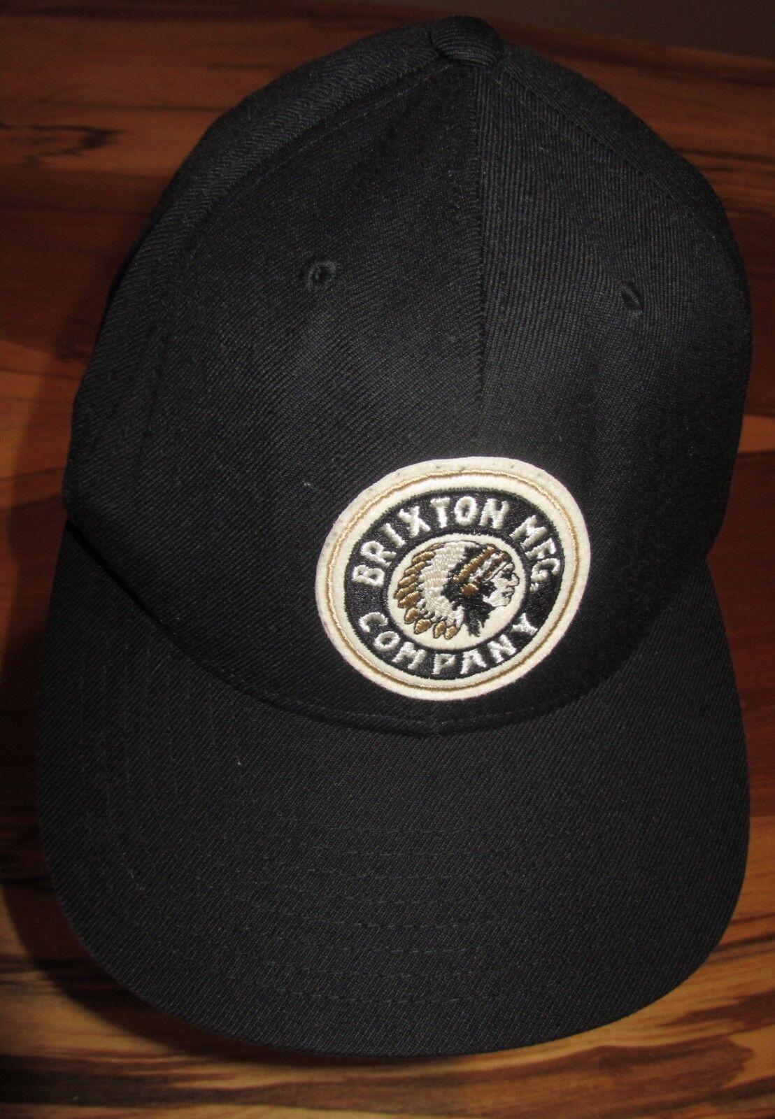 ... italy brixton mfg company mens baseball cap hat euc indian chief black  snapback euc hat 01a999 ... 372f45fc3e91