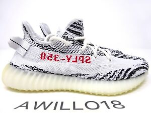 af9882c47aa Adidas Yeezy Boost 350 V2 Zebra White Black Red CP9654 UK 5 6 7 8 9 ...