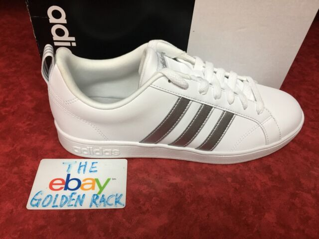cbc33ae64 Adidas VS ADVANTAGE BB7248 White Silver Women s Shoes SZ 6.5-9.5 NIB
