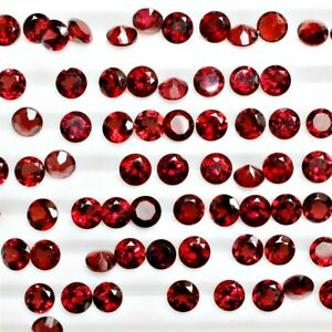 Lot-of-2-5mm-Round-Facet-Cut-Natural-Mozambique-Garnet-Loose-Calibrated-Gemstone