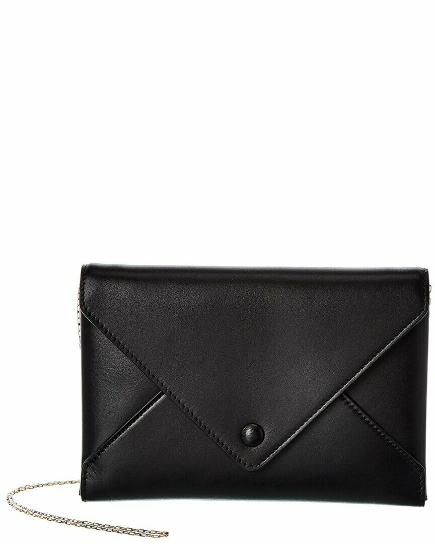 The Row Envelope Leather Clutch Women's Black