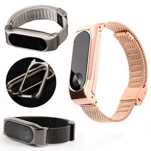 For-Xiaomi-Mi-Band-2-Smart-Bracelet-Stainless-Steel-Watch-Band-Strap-Metal-bs-UK