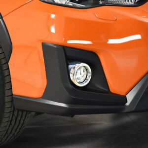 For-Subaru-XV-5-door-hatchback-2017-2018-Exterior-Front-Fog-Light-Lamp-Cover-2