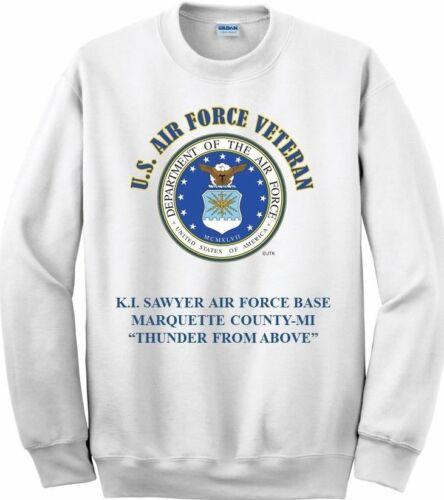 *USAF EMBLEM SWEATSHIRT BERGSTROM AIR FORCE BASE*AUSTIN-TEXAS