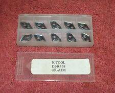 K Tool Carbide Inserts Di 0468 Grade Gr A3m Pack Of 10