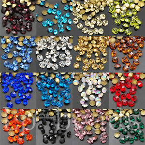 10Gross-1440pcs-Top-Quality-Pointed-Back-Glass-Crystal-Rhinestone-Round-Chatons