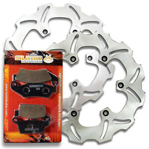2002-2003 Rear High Performance Stainless Steel Brake Disc Rotor Street Bike Pads Combo for YZF 600 R 1999-2002 // YZF R1 R6 Sumo Yamaha Front