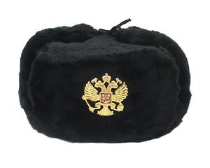 bca28be4a21 Image is loading Authentic-Russian-Military-KGB-Ushanka-Hat-W-Imperial-
