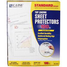 C Line Top Loading Sheet Protectors 85x11 100pkg Clear 62027