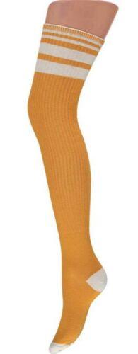 Scaldamuscoli Calze Uni Colori sul geringelt federale sulle CALZETTONI SOCKS sopra il ginocchio