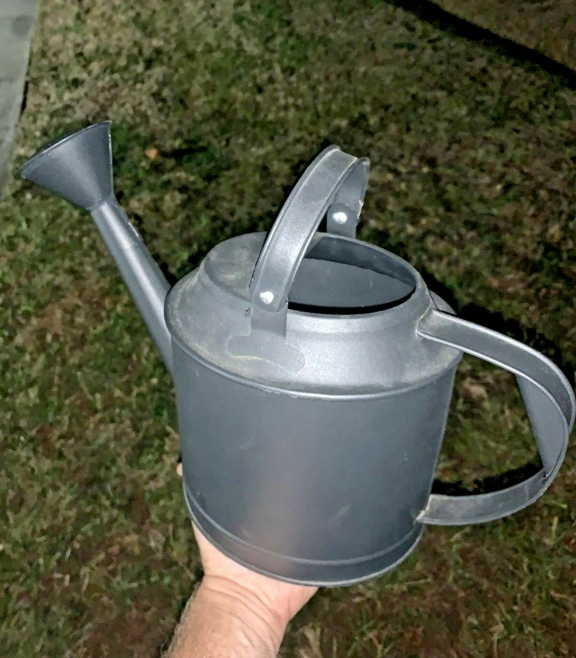 Vintage IKEA Watering Can Black Metal NEW with TAGS House Garden 11/17 ❤️sj11h1s