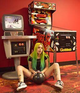 BOWLING-Arcade-Video-Pinball-Machines-ROCKIN-BOWL-O-RAMA-STRIKES-039-N-SPARES