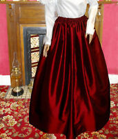 Ladies Victorian / Edwardian costume SKIRT gentry / ball gown fancy dress (burg)