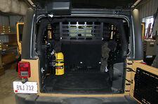 Springtail Jeep JK 4 door Unlimited Pet Dog Cargo Barrier NO DRILLING EZ Install