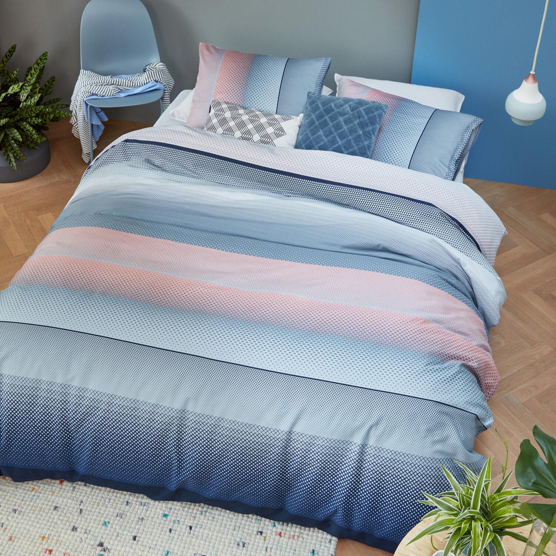 Beddinghouse ropa de cama senn Blue bloque rayas historial patrón patrón historial 100% algodón 361e1e