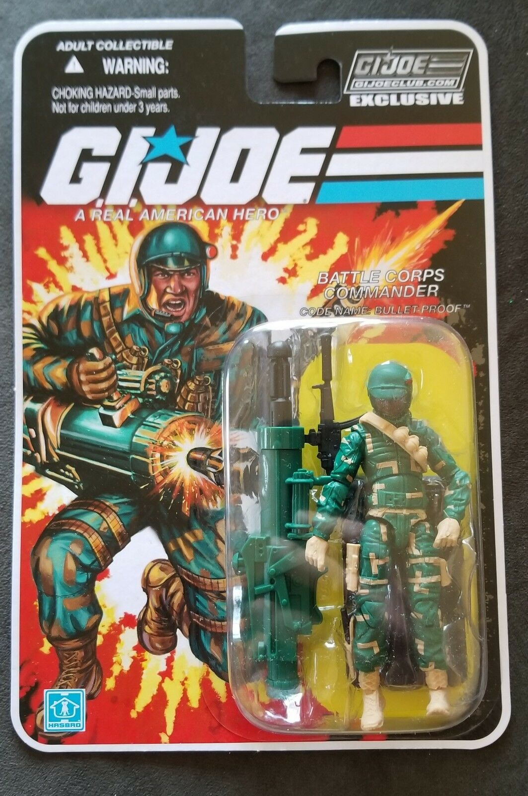 GI Joe Collectors Club FSS 8.0 BULLET-PROOF - 3.75in. Action Figure - NEW - MOC