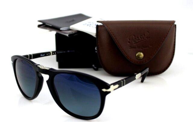 816b834f02 POLARIZED Steve McQueen Edt PERSOL Folding Black Blue Sunglasses PO 714 SM  95 S3
