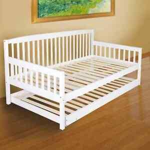 Wooden-Sofa-Bed-Frame-Day-Bed-Trundle-Children-Single-Slat-Base-Kids-Guests