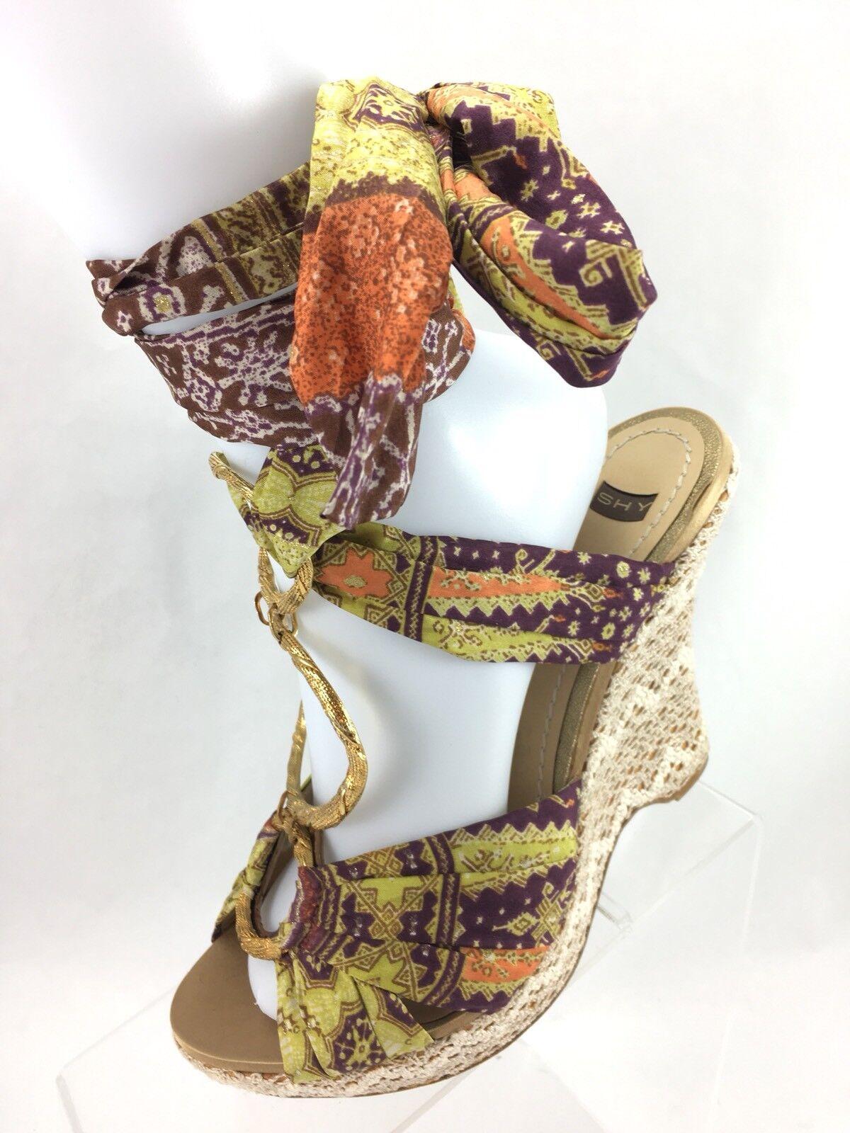 offerta speciale SH3 Shy US 8.5 EUR EUR EUR 39  Made Platform Wedge Heel scarpe Lace Embellished Tie  prezzi bassi di tutti i giorni