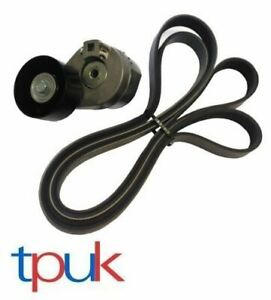 TRANSIT-FAN-DRIVE-BELT-AND-TENSIONER-2-4-MK6-2000-2006-1755162-7PK2710-LESS-A-C