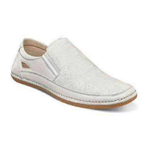 Stacy Adams Men's Napa Moc Toe Slip On White 25096-100