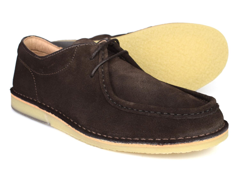 Hush Puppies Hancock bajo MARRÓN CHOCOLATE Zapatos de ante h104682