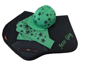 Navy-Emerald-Green-Cross-Country-Colours-Horse-Riding-Set-LeMieux-Saddlecloth