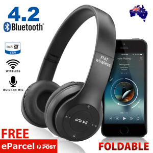 Noise-Cancelling-Wireless-Headphones-Bluetooth-4-2-earphone-headset-with-Mic-Hot