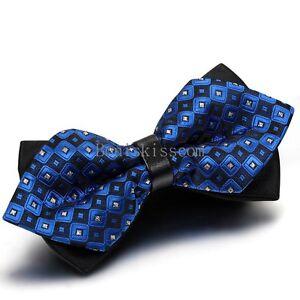 Classic-Fashion-Novelty-Mens-Adjustable-Tuxedo-Bowtie-Wedding-Bow-Tie-Necktie