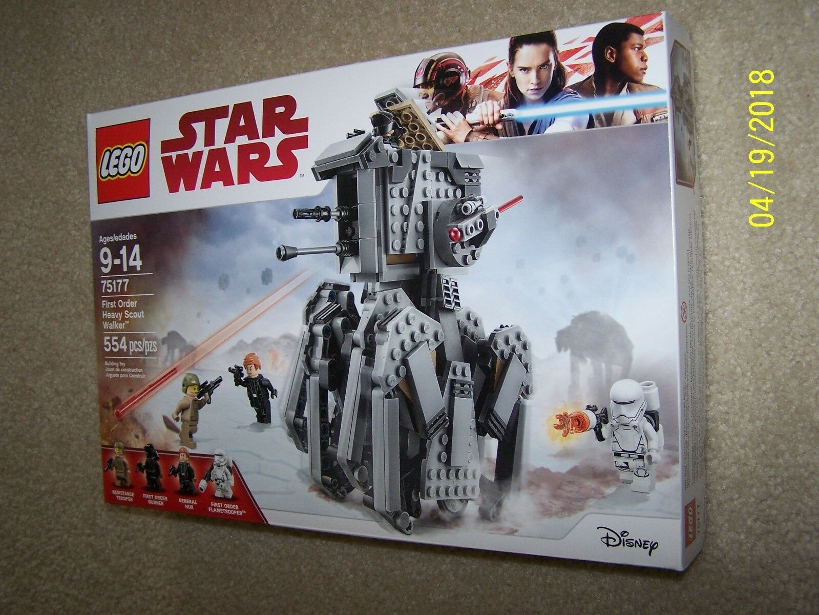 Lego 75177 Star Wars First Order Heavy Scout Scout Scout Walker Set New in Box 1239f8