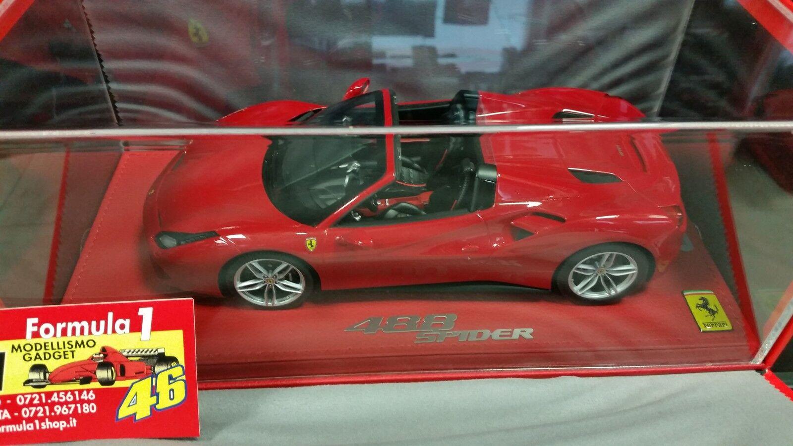 compra meglio Ferrari 488 Spider 2015 Rosso Tristrato 1 18 lim.ed.148 lim.ed.148 lim.ed.148 pcs Display P18120AV BBR  risparmia fino al 70%