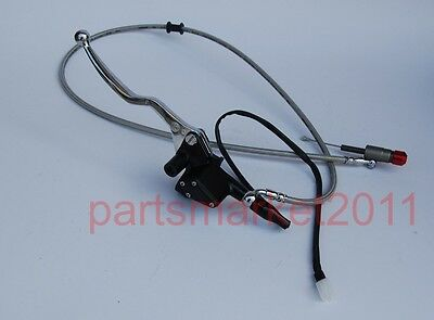 Chrome Hydraulic Clutch Lever Cylinder Motorcycle Dirt Bike ATV 1200MM GO KART