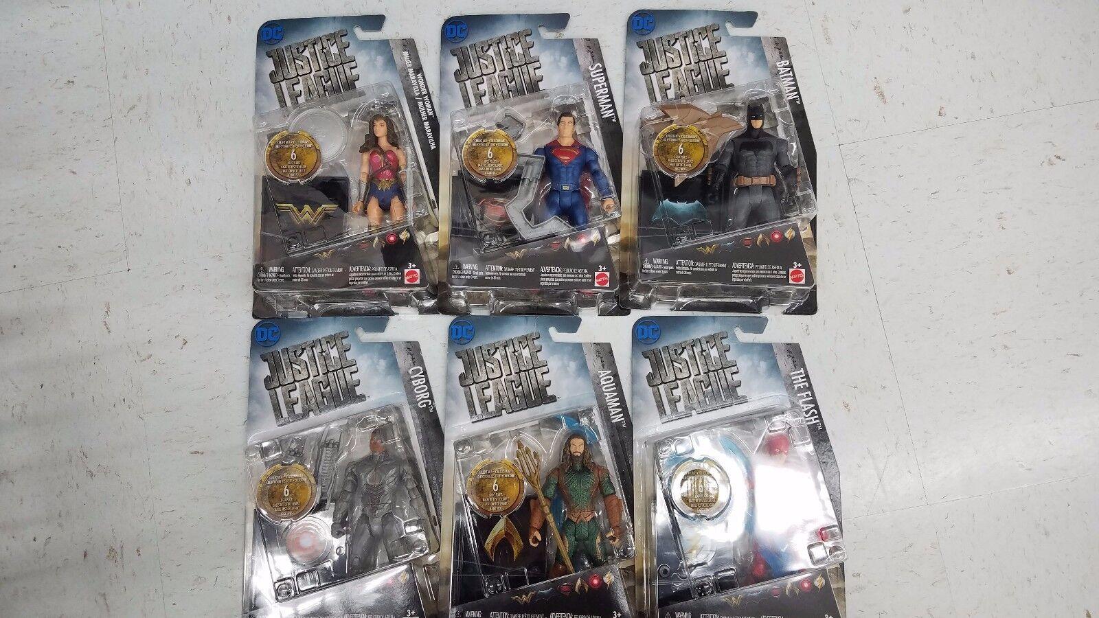 New Complete Set Justice League Figure Set Cyborg, Aquaman,etc