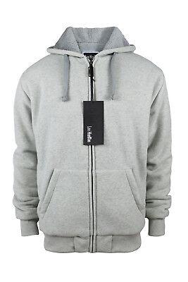 Men's Zip Sherpa Lined Fleece Hoodie Sweatshirts Outerwear Winter Warm Coat