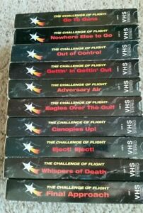 10 VHS The Challenge Of Flight: 1992-95; Blue Heron Films: US Fighter Squadrons
