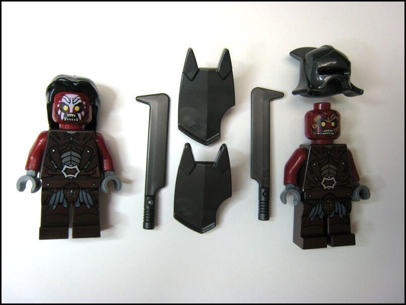 NEW LEGO LOTR 9471 Urak Uruk-Hai Army 2 Orc Soliders Minifigures w Shield Blade