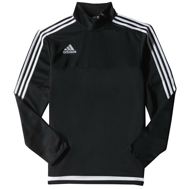 Adidas Tiro 15 Training Top Youth XS Black Pullover ClimaCool Training Top NEW