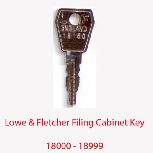 Lowe /& fletcher remplacement classeur clé 18000-18999