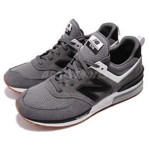 b22f22bda6165 New Balance MS574FBC D Grey Black Suede Gum Men Running Shoes ...
